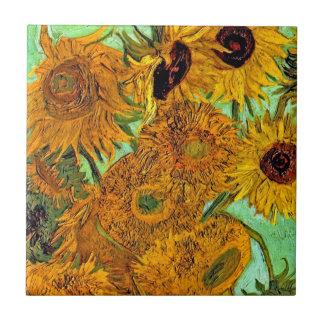 Carreau Vincent van Gogh - vase avec douze tournesols