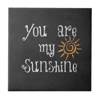 Carreau Vous êtes mon soleil