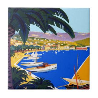 Carreau Voyage vintage de Cote d'Azur