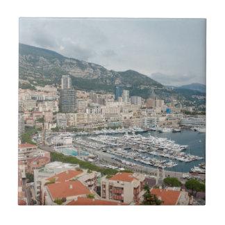 Carreau Vue à travers le Monaco et Monte Carlo