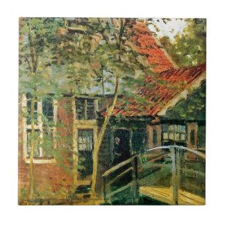 Carreau Zaandam, peu de pont par Claude Monet