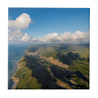 Carreau Zonguldak, antenne, côte de la Mer Noire de la