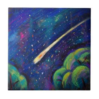 Carreaux de céramique de comète d'étoile de nuit