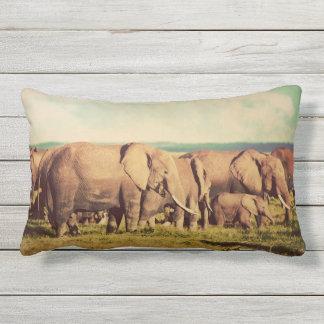 Carreaux d'éléphants coussin rectangle