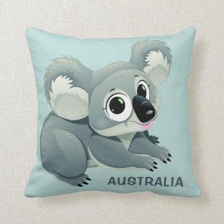 Carreaux faits sur commande des textes de koala coussin