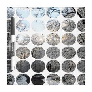 Carrefours de forêt de pois d hiver tableaux effaçables blancs