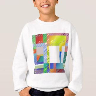 Carrés abstraits sweatshirt