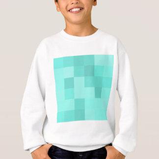 Carrés bleu vert sweatshirt