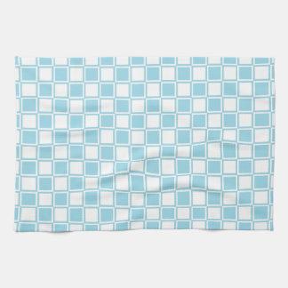 Carrés bleus et par blanc décrits en pastel linge de cuisine