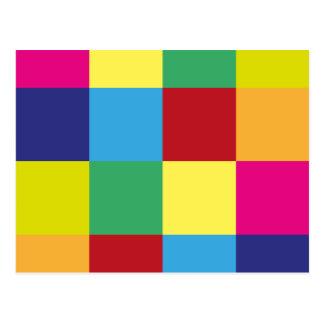 Carrés colorés carte postale