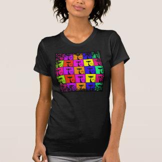 Carrés colorés frais d'art de bruit de chat de t-shirts