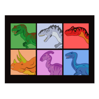 Carrés de dinosaure carte postale