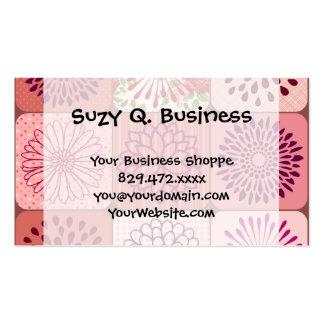 Carrés floraux de rose de collage de fleur carte de visite standard