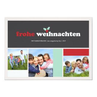 Carrés-Gruß-Karte de Frohe Weihnachten Carton D'invitation 12,7 Cm X 17,78 Cm