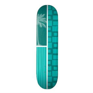 Carrés tropicaux de turquoise skateboards