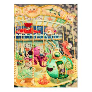 Carrousel nautique magique carte postale