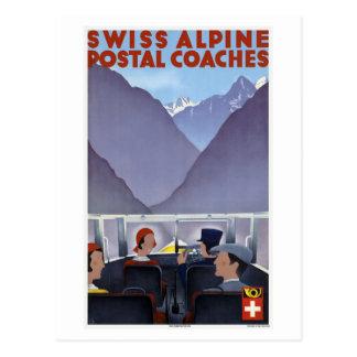 Cars postaux alpins suisses Suisse Carte Postale