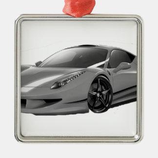 cars voiture ornement carré argenté