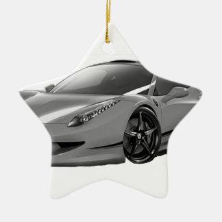 cars voiture ornement étoile en céramique