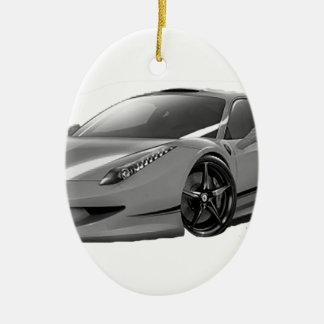 cars voiture ornement ovale en céramique