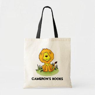 Cartable de bibliothèque de lion sac en toile budget
