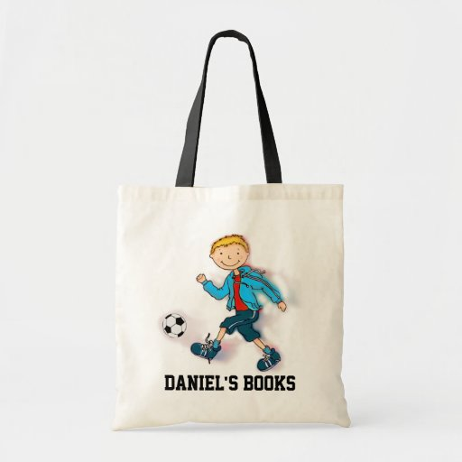 Cartable de bibliothèque du football de garçons sac fourre-tout