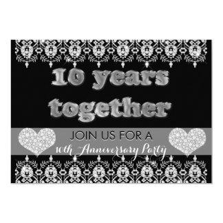 Carte 10ème Fête d'anniversaire 10 ans ensemble de