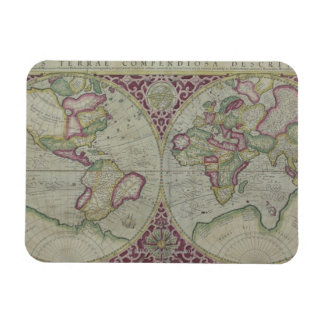 Carte 12 du monde magnets en rectangle