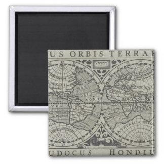 Carte 14 du monde magnet carré