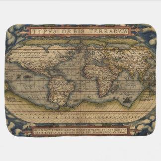 Carte 1570 du monde d'Ortelius Couvertures De Bébé