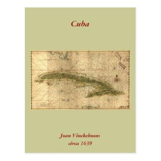 Carte 1639 historique du Cuba par Joan Vinckeboons