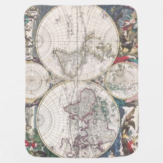 Carte 1685 de Bormeester du monde Couverture De Bébé