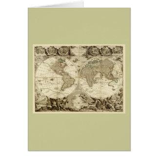 Carte 1708 du monde par Jean Baptiste Nolin