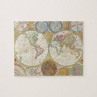 Carte 1794 de Samuel Dunn du monde dans les Puzzle