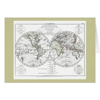 Carte 1806 d'atlas : La Mappemonde par Eustache