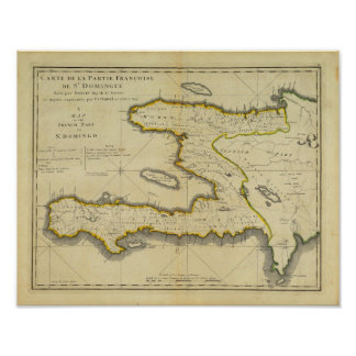 Carte 1814 du Haïti par Mathew Carey Posters