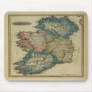 Carte 1823 de l'Irlande par le JR de mise en place Tapis De Souris