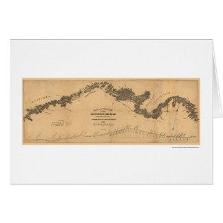 Carte 1839 de chemin de fer de Gettysburg