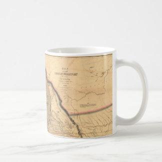 Carte 1841 du nord-ouest Pacifique de l'Orégon de Mug