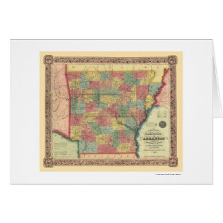 Carte 1854 de chemin de fer de l'Arkansas