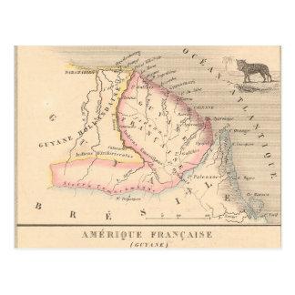 Carte 1858 d'Amerique Francaise (Guyane), Guyane