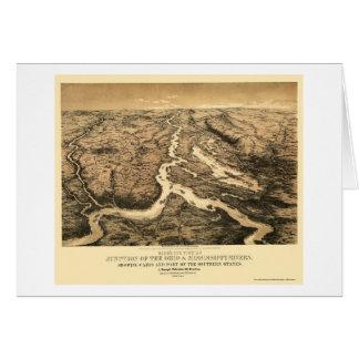 Carte 1861 de l'Ohio et du fleuve Mississippi