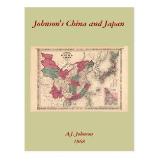 Carte 1868 - la Chine et le Japon de Johnson