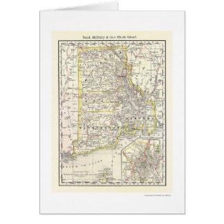Carte 1875 de chemin de fer d'Île de Rhode