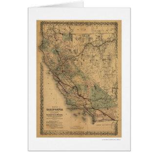 Carte 1876 de chemin de fer de la Californie et du