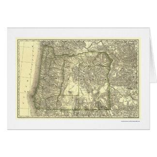 Carte 1876 de chemin de fer de l'Orégon