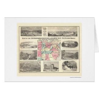 Carte 1877 de chemin de fer de Pittsburg