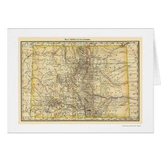 Carte 1879 de chemin de fer du Colorado