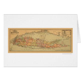 Carte 1884 de chemin de fer du Long Island