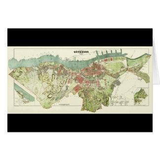 Carte 1888 de Gothenburg Suède par Ludvig Simon